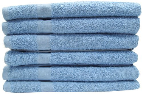 100% Cotton Cleaning Cloths / Terry Cloth Towel, Heavy Duty 16 x27 , Light Blue,