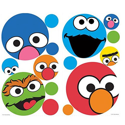 RoomMates RMK1698SCS Sesame Street Dots Peel & Stick Wall Decals