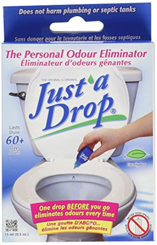 Just A Drop - Natural Toilet Odor Eliminator - Eucalyptus - 15 mL