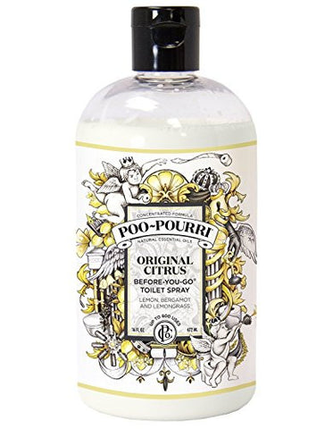 Poo-Pourri Before-You-Go Toilet Spray Refill Bottle, Original Plus Free 1 oz. Refillable Bottle, 16 oz.