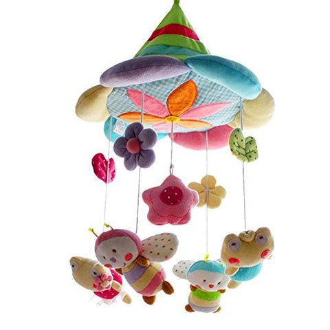 SHILOH Baby Plush Crib Mobile with 60 songs Musical Box and Arm, Fairy (Green Forest)