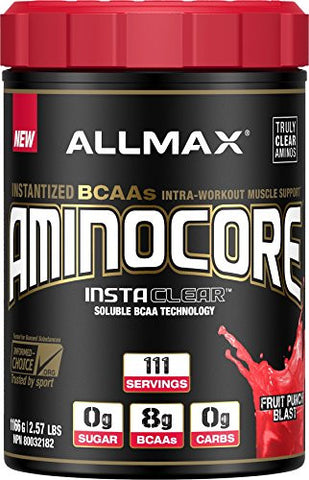 ALLMAX Nutrition AminoCore Fruit Punch Blast -- 2.57 lbs