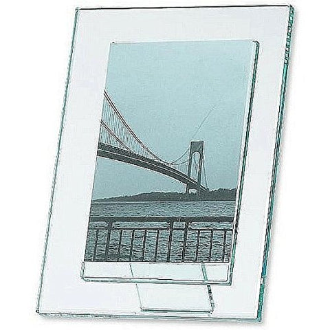 Sixtrees Beveled Glass Photo Frame, For 5in. x 7in. Photo, Vertical