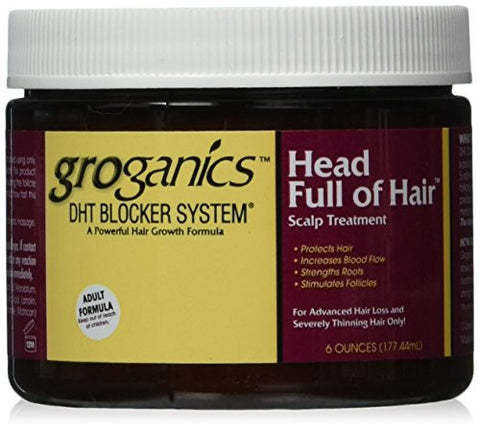 Groganics Head Full of Hair, 6 Ounce