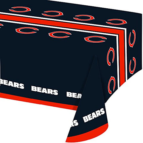 Creative Converting All Over Print ChiUsgo Bears Plastic Banquet Table Cover