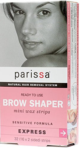 Parissa Brow Shaper Mini Wax Strips, 32 Count