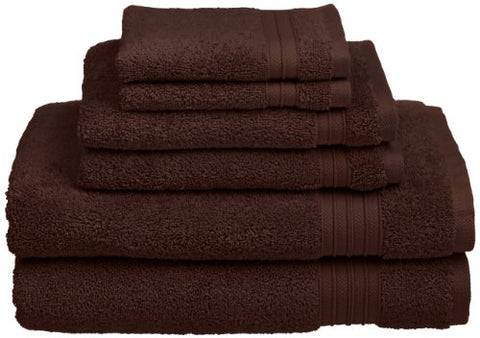 HygroSoft Fast Drying and Absorbent 100% Cotton 6-Piece Towel Set, Java