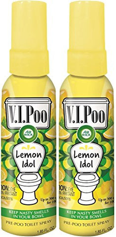 Air Wick V.I.Poo Pre-Poo Toilet Spray VALUE PACK, Lemon Idol, 1.85 oz