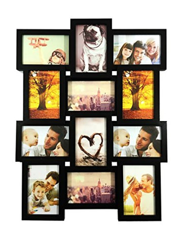 BestBuy Frames 12-4x6-Inch Multiple Opening Wall Hanging Collage Picture Frame
