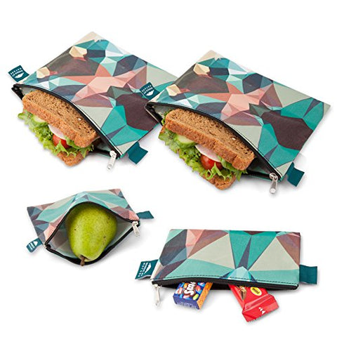 Nordic By Nature Premium Camo Sandwich & Snack bags | Designer Set of | Resealable, Reusable and Eco Friendly Dishwasher Safe Lunch Bags | Functional Easy Open Zipper | Great Lunch & Meal Prep