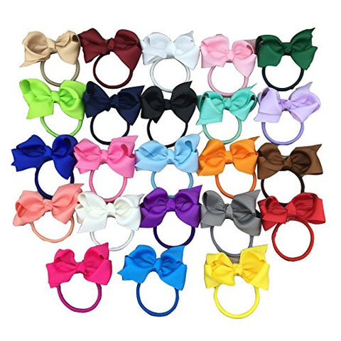 XIMA 3inch Ribbon Hair Bows Hairband for Children Hair Accessories,Boutique Bows Hair Ties