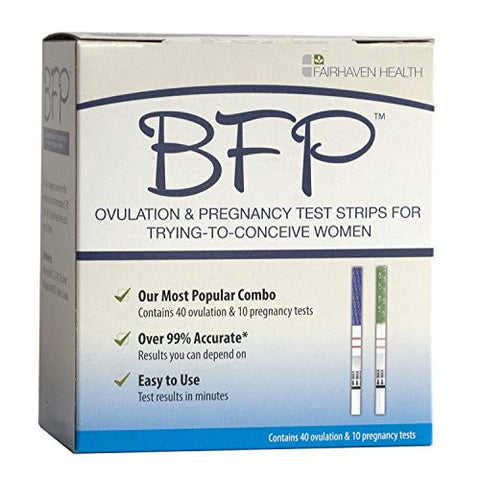 BFP Ovulation & Pregnancy Test Strips, Made in N. America, 40 LH Ovulation & 10 hcg Pregnancy Tests – Early Predictor Kit for Fertility