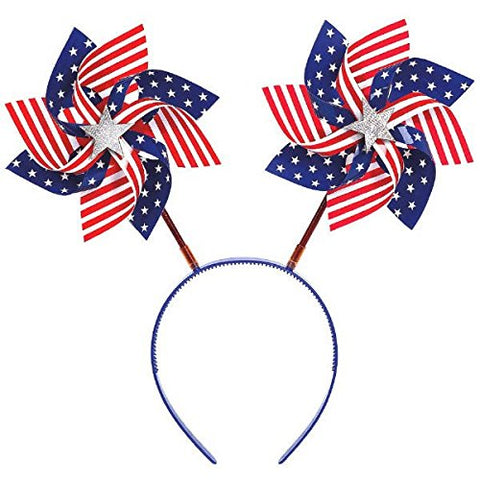 American Summer Fourth of July Pinwheels Head Bopper, Multi Color, 11.5 x 10.4
