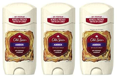 Old Spice Amber Fresher Collection Invisible Solid Men's Antiperspirant and Deodorant 2.6 Oz