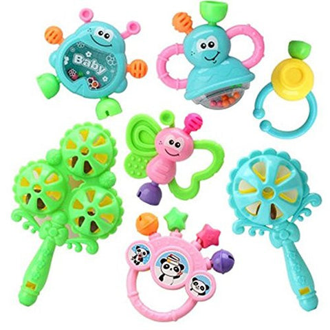 Kangkang@ Baby Toys 3-6-12 Months Baby Rattles Educational Toys 0-1 Years Old Random Color
