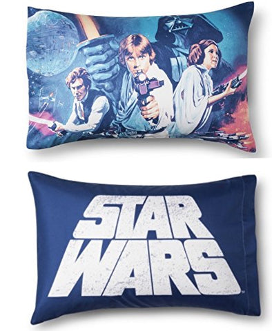Star Wars Blue and White Reversible Pillowcase