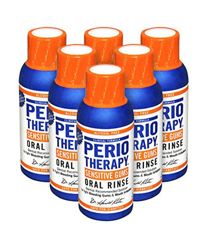 TheraBreath Dentist Recommended Periotherapy Healthy Gums Oral Rinse, 3 Ounce Trial and Travel Size
