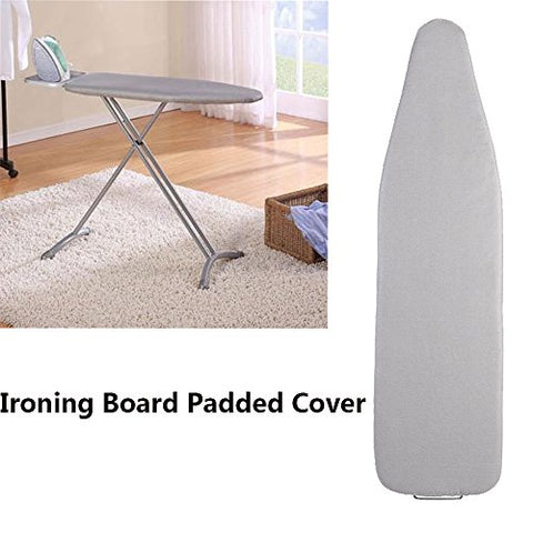HOMILA Home Collection Silicone Coated Ironing Board Cover Premium Scorch Resists Scorching and Staining - Ironing Board Padded Cover 15 x54  (Not include Board)
