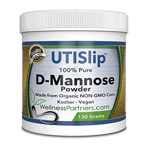 Now new UTI-Slip D Mannose Non GMO Organic Source Powder 130g jar...