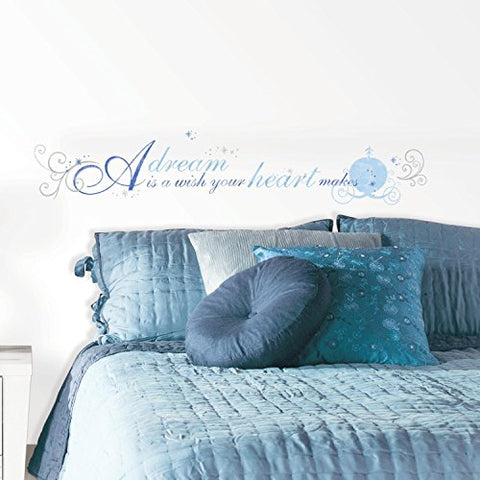 RoomMates RMK2438SCS Cinderella  A Dream Is A Wish  Peel and Stick Wall Decals