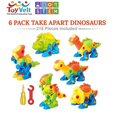 Dinosaur Toys Take Apart Toys With Tools - Dinosaurs - Construction Engineering STEM Learning Toy Building Play Set - Toy for Boys & Girls Age 3 - 12 years old