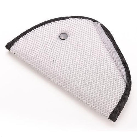 Seat Belt Adjuster, Car Safety Cover Strap Adjuster Pad Harness, Luxuries Comfortable Protection for Adult Children Keep Belt Away From Neck and Face, Made of Air Mesh Fabric (Premium Luxuries White)