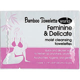 Bamboo Towelette Works 140523 Feminine and Delicate Moist Cleansing Towelettes, 50 Count