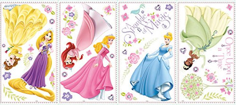 RoomMates RMK1903SCS Disney Glow within Princess Wall Decals, 36 Count