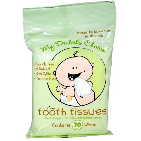 Tooth Tissues Dental Wipes for Baby or Toddler (4 Packs of 30 Wipes)