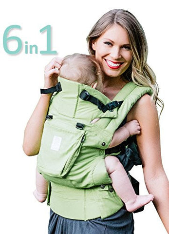 SIX-Position, 360° Ergonomic Baby & Child Carrier by LILLEbaby - The COMPLETE Organic (Green Meadow)