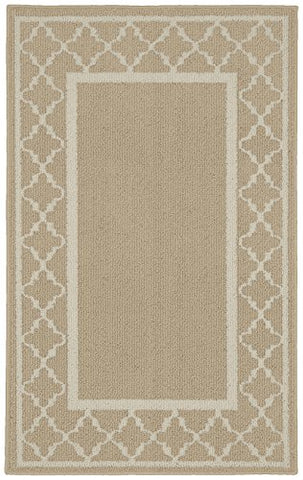 Garland Rug Moroccan Frame Area Rug, 30 x 46 , Tan/Ivory