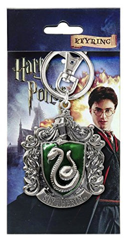 Harry Potter Slytherin School Crest Pewter Keychain