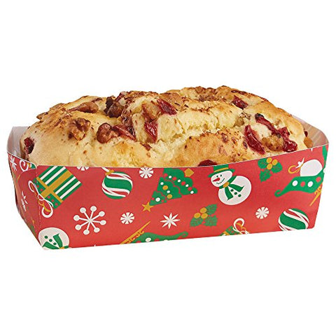 Hoffmaster 610904 Holiday Loaf Pan, Large, 1-3/4  Wall, 2-5/8  x 5-1/2  (6 Packs of 50)