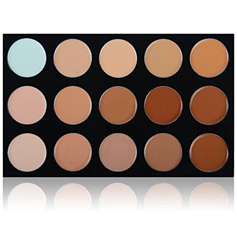 SHANY Masterpiece 15 Color Foundation, Concealer, Camouflage Palette/Refill - TONED