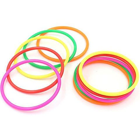 Doloburn 10 pcs 5 Plastic Toss Rings for Speed and Agility Practice Games (10 pcs; 5)