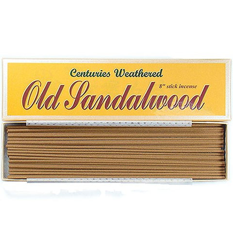 Indian Centuries Weathered Old Sandalwood - 8  stick incense - 100% Natural - L007T
