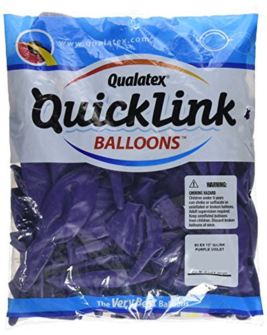 Pioneer Balloon Quick Link Latex Balloons, 12 , Purple Violet