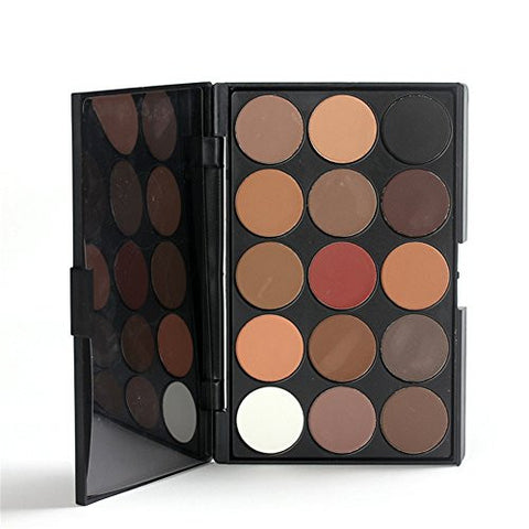 Pure Vie Professional 15 Colors EyeShadow Palette Makeup Contouring Kit