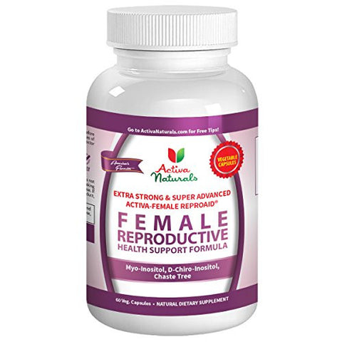 Activa Naturals Female Reproductive Health Support Supplement (60 Vegetarian Capsules) with D Chiro Inositol & Myo Inositol - Natural & Herbal Wellness Aid for Women