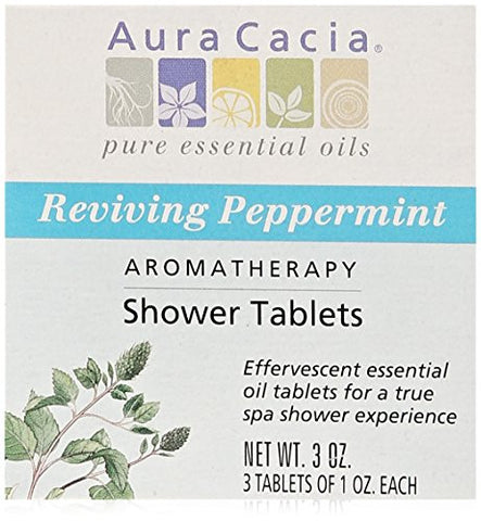 Aura Cacia Aromatherapy Shower Tablets, Reviving Peppermint,  3 ounce