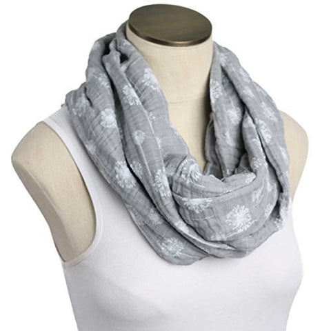 --SALE--Hold Me Close Muslin Double Gauze Nursing Scarf (Gray Dandelion)