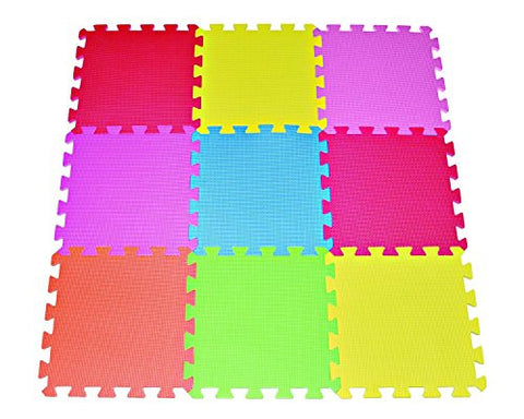 We Love Crawling Baby 1/2 Thick Playmat (12x12, 9-count)