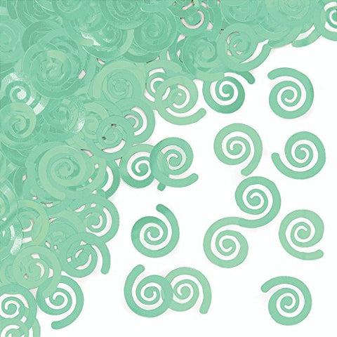 Mint Green Swirl Confetti