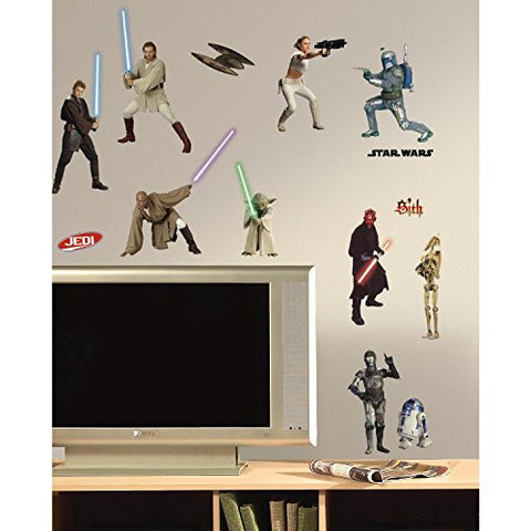 RoomMates RMK1876SCS Star Wars Episodes 1 thru 3 Peel and Stick Wall Decals