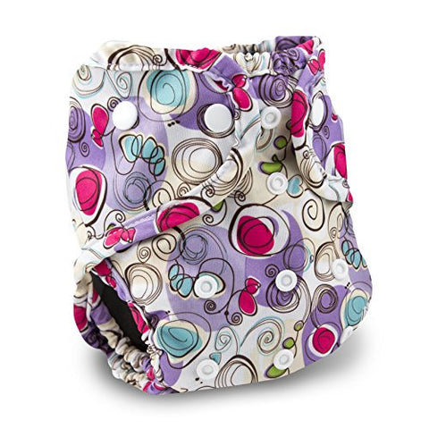 Buttons Cloth Diaper Cover - One Size (Posy)