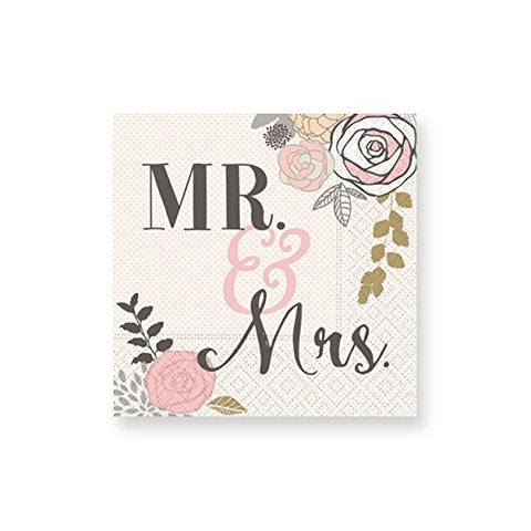 Mr. And Mrs. Beverage Napkins