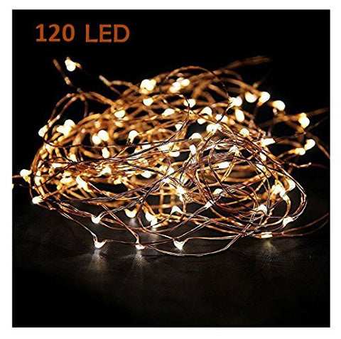 MineTom Starry String Led's Lights Warm 120 Individually Mounted Led's, 20 ft, White