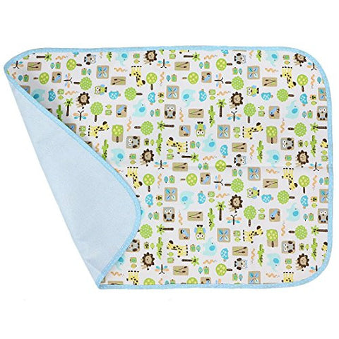 MyKazoe Waterproof Bassinet / Changing Table / Play Yard Pad (27.5 x 19.5) (Animal Carnival)