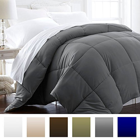Beckham Hotel Collection 1500 Series - Lightweight - Luxury Goose Down Alternative Comforter - Hotel Quality Comforter and Hypoallergenic - King/Cali King - Gray