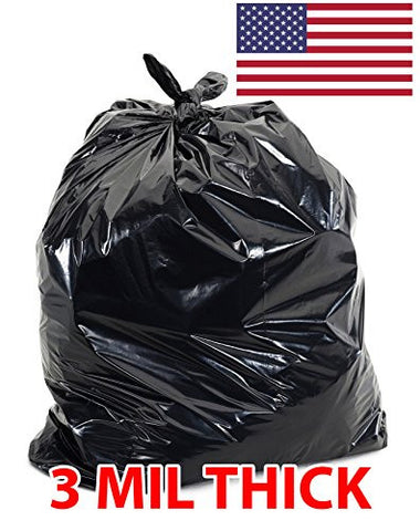 Ox Plastics 60 Gallon 3 Mil Extra Large Heavy Duty Contractor Bags, Made in USA, Trash Bag (25)-41x60